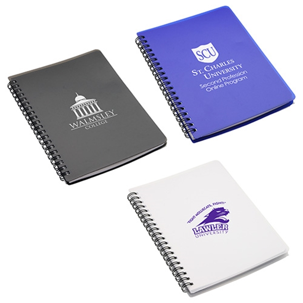 Imprinted Hardcover notebook with pouch