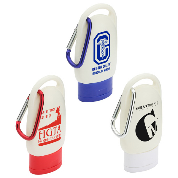 Imprinted Clip and Go hand sanitizer