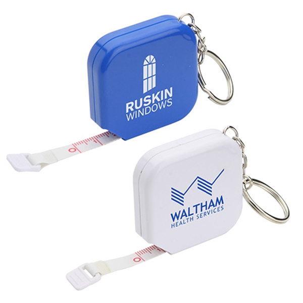 Customized Square Tape Measure Key Chain