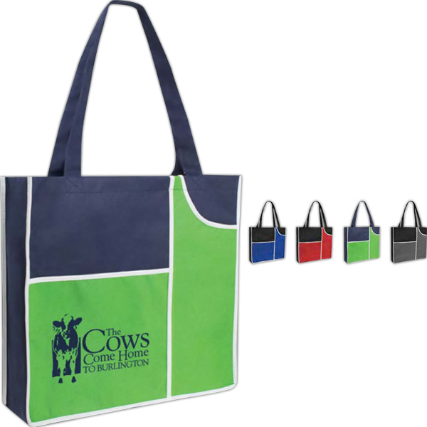 Printed Poly Pro Duo Pocket Tote