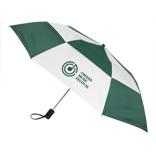 Custom Gusto Vented Auto Open Folding Umbrella