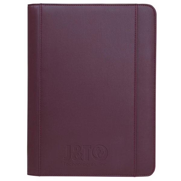Imprinted Ultrahyde Zippered Padfolio