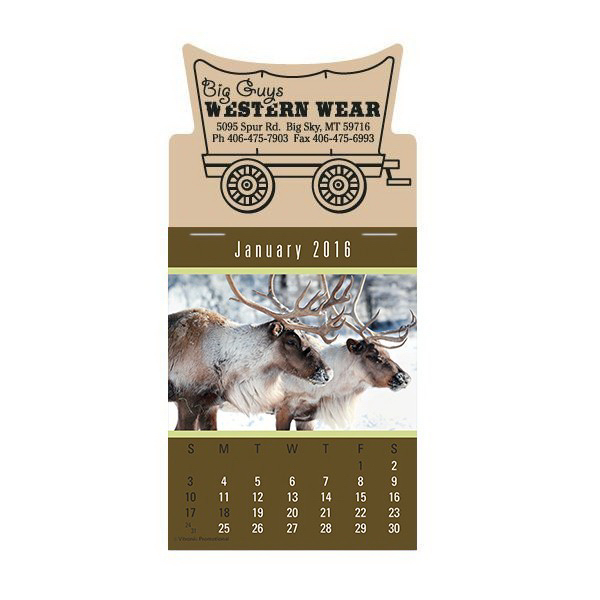 Imprinted 3Super-Size Press-N-Stick Calendar