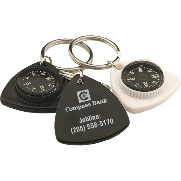 Customized Triangle Compass Key Chain