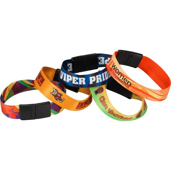 Printed Sublimated Heavy Weight Satin Wristband