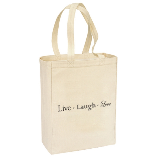 Customized Canvas Gusset Shopping Tote