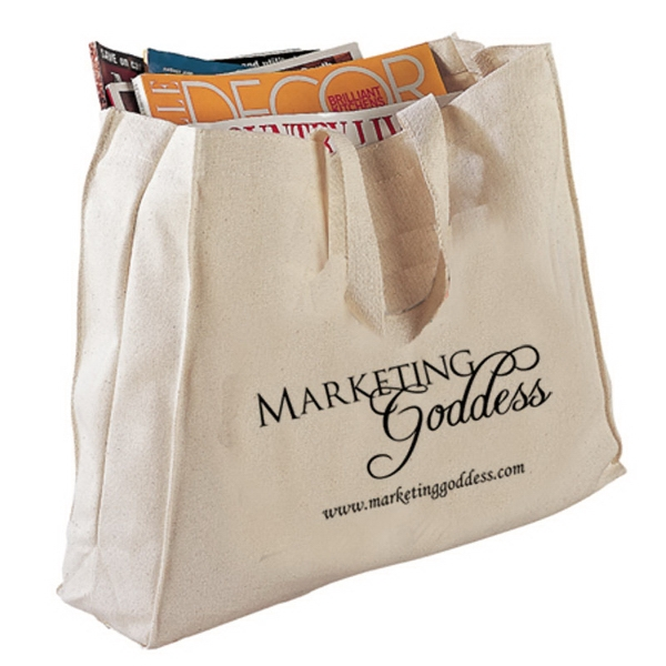 Personalized Canvas Gusset Tote Bag
