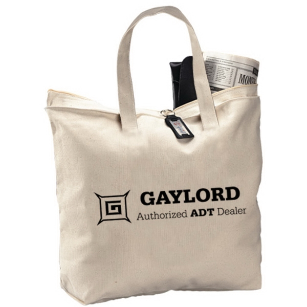 Customized Canvas Zipper Tote