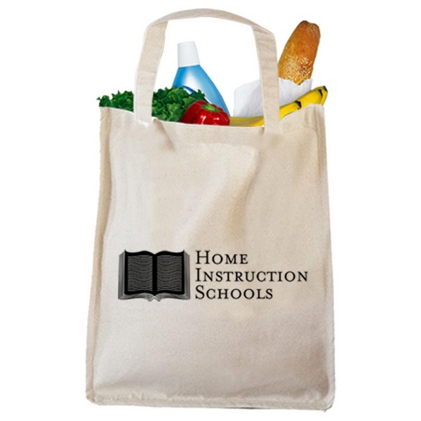 Printed Canvas Book Bag