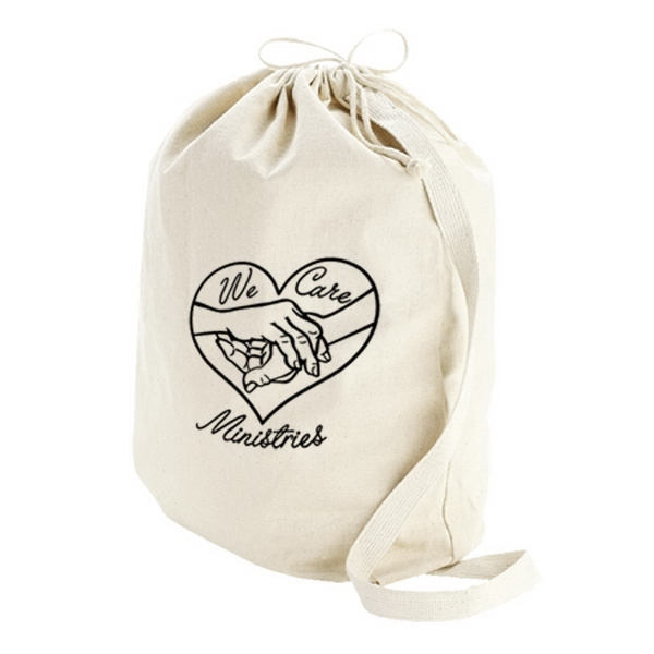 Custom Canvas Drawstring Bag - Small