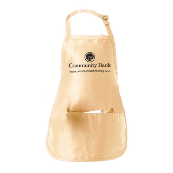Promotional Medium Length Apron w/ Pouch