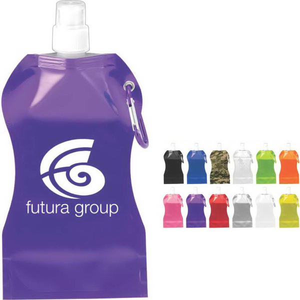 Printed Wave Collapsible Water Bottle