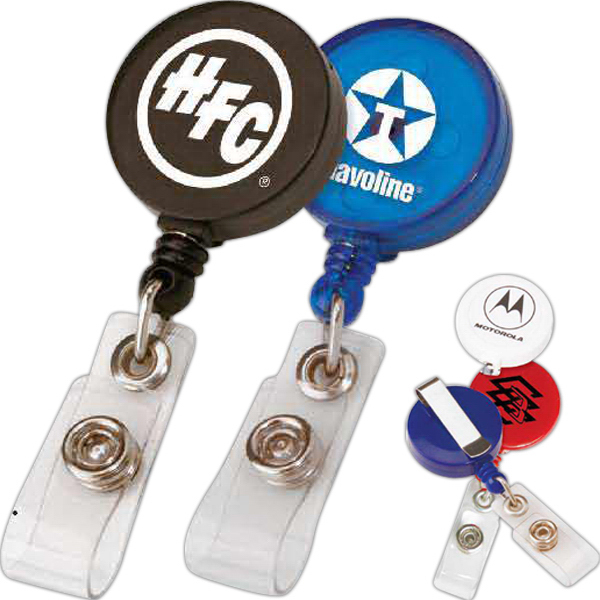 Customized Round Retractable Badge Holder