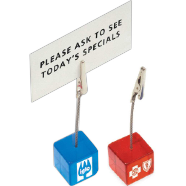 Printed Cube Clip Memo Holder