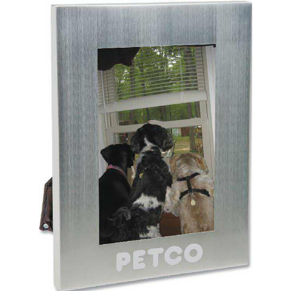 "Personalized 4"" x 6"" Bold Border Photo Frame"