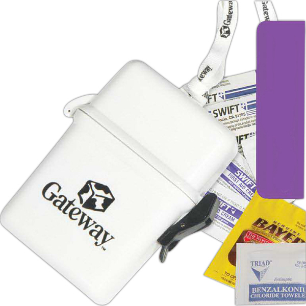 Personalized Deluxe First Aid Kit in a Plastic Container