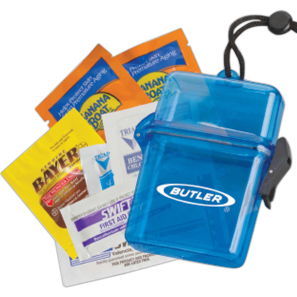 Personalized Sun Protection Outdoors Kit in a Plastic Container