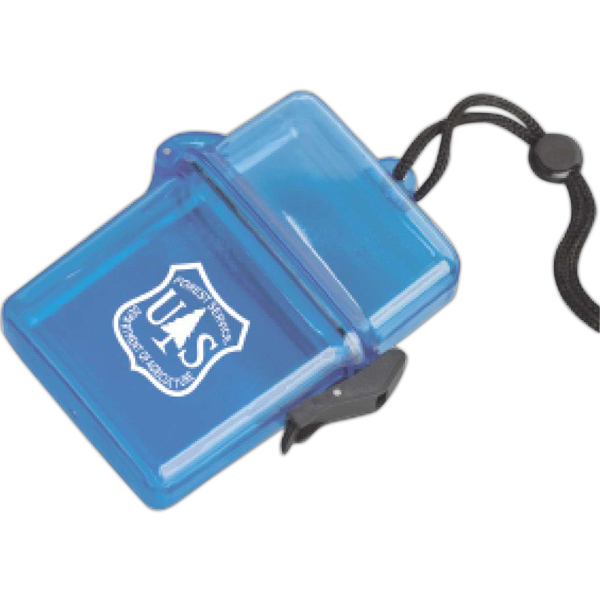 Customized Plastic Container on a Rope or Lanyard