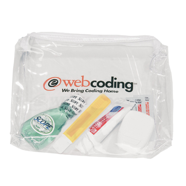Imprinted Deluxe Dental Kit in a Promotional Bag