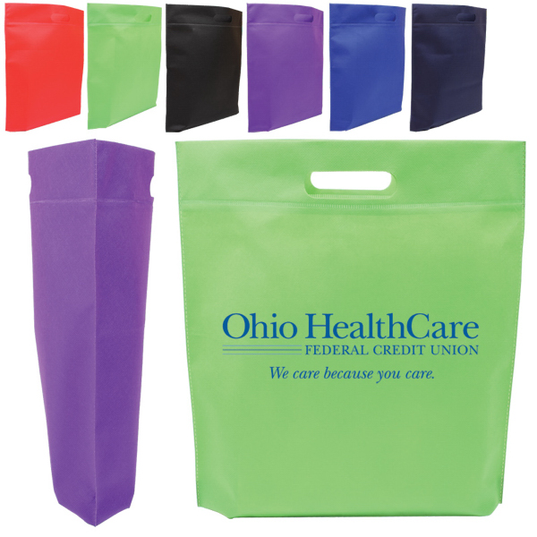 Custom Die Cut Handle Tradeshow Nonwoven Tote