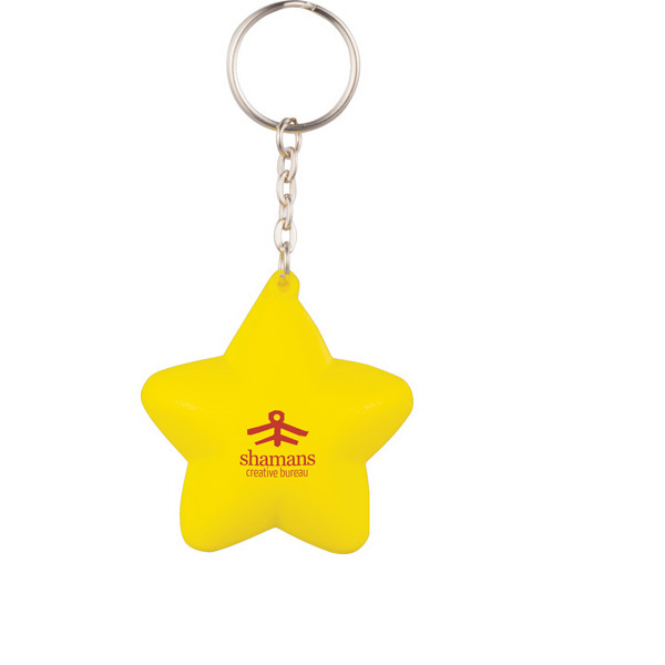 Personalized Star Keychain