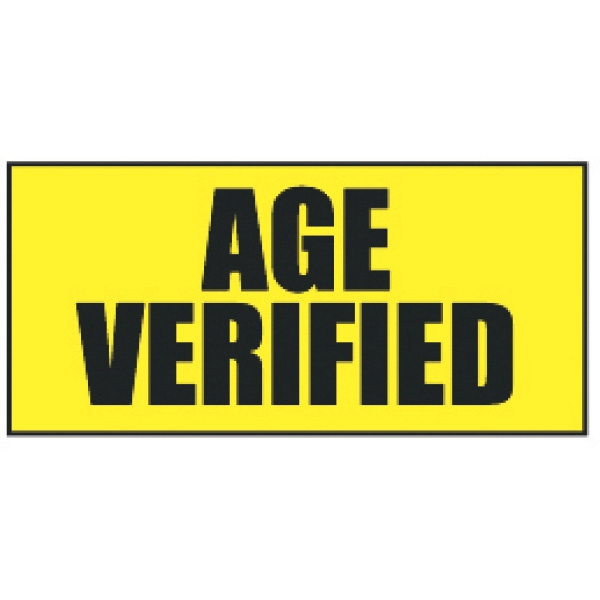 Imprinted Age Verified Wristband