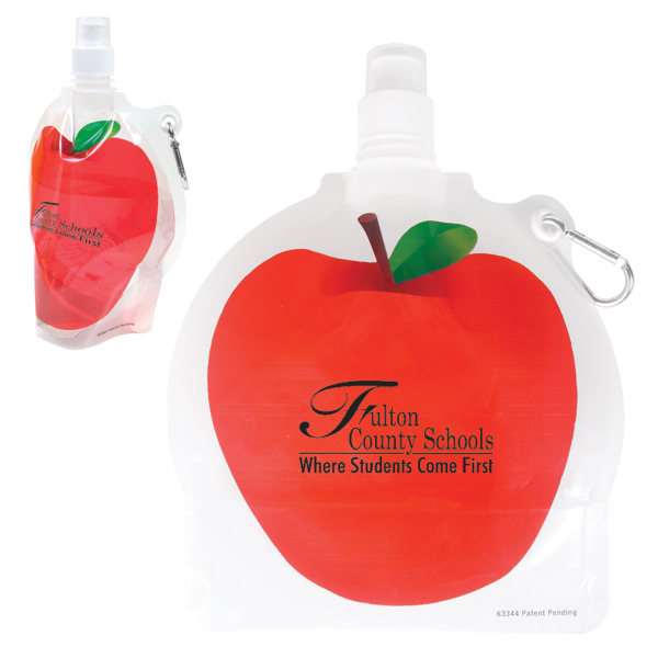 Personalized HydroPouch! (TM) 24 oz Apple Collapsible Water Bottle