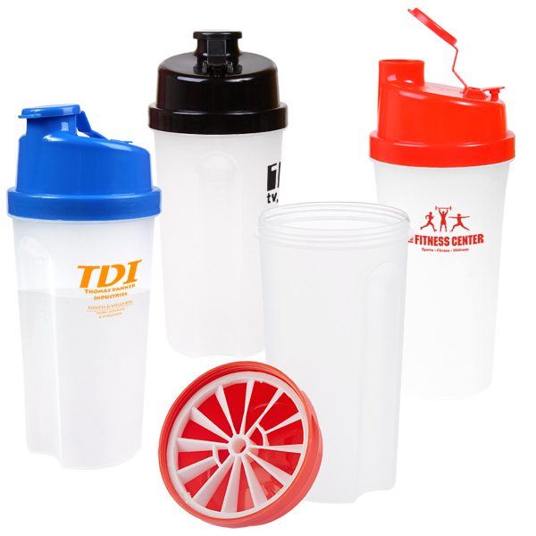 Customized 20 oz Plastic Fitness Shaker with Measurements