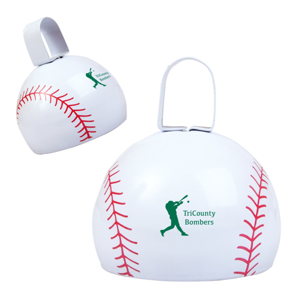 Imprinted Baseball Cow Bell