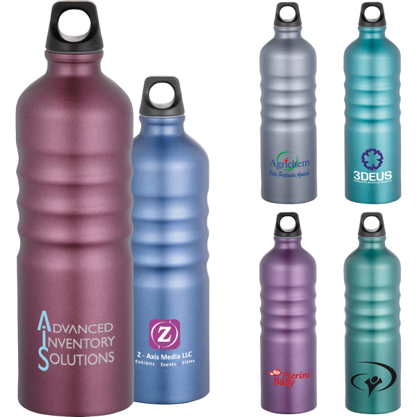 Customized Gemstone Aluminum Sport Bottle