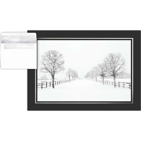 Printed Peaceful Winter Greeting Card
