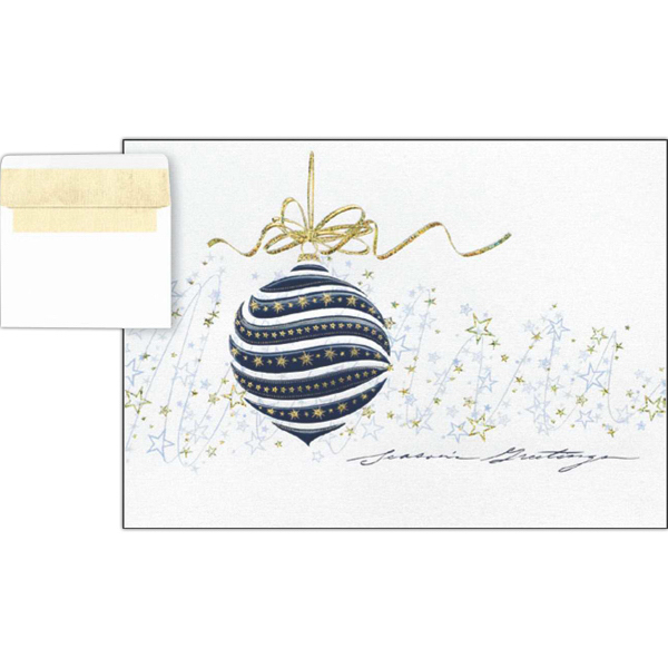 Custom Silver Confetti Greeting Card