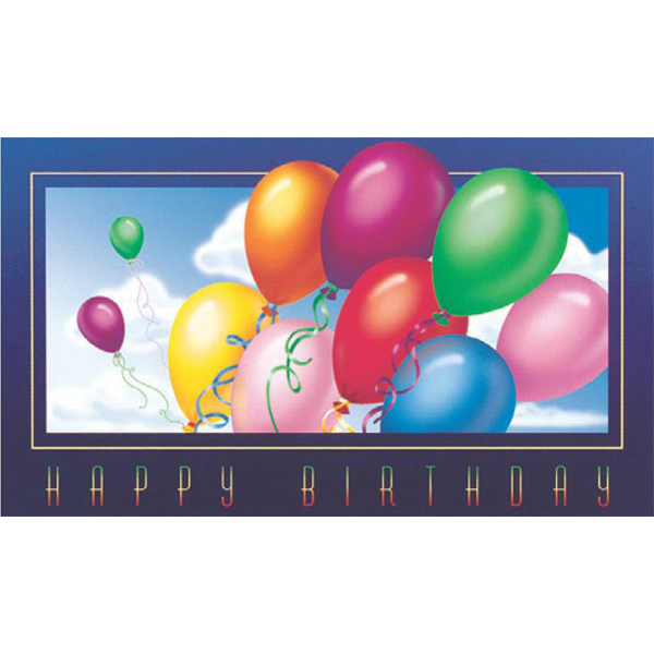 Imprinted Rainbow Balloons Greeting Card