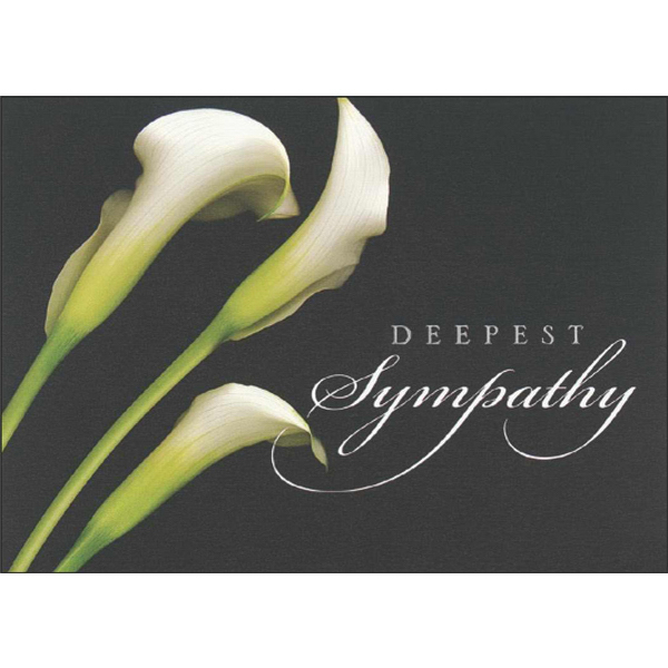 Personalized Sympathy Floral Greeting Card