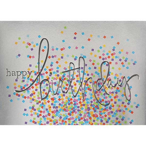 Imprinted Colorful Confetti Greeting Card