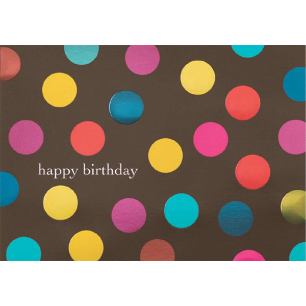 Custom Banner Dots Greeting Card