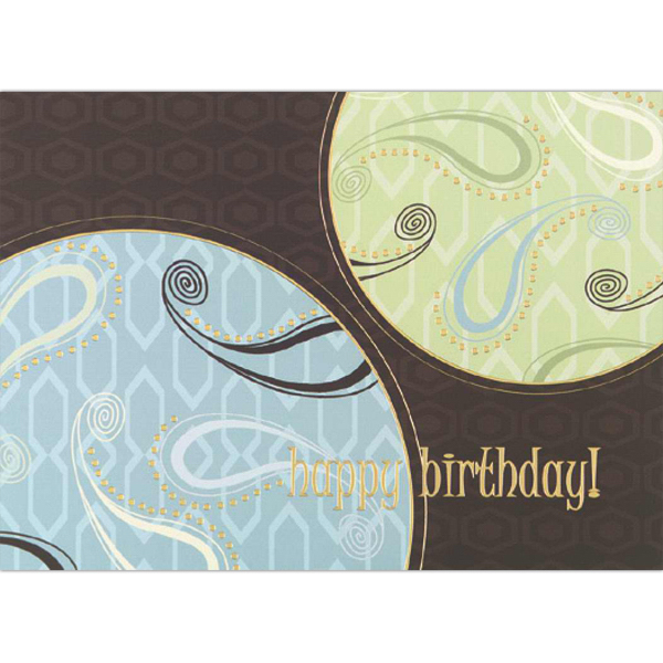 Personalized Paisley Wishes Greeting Card