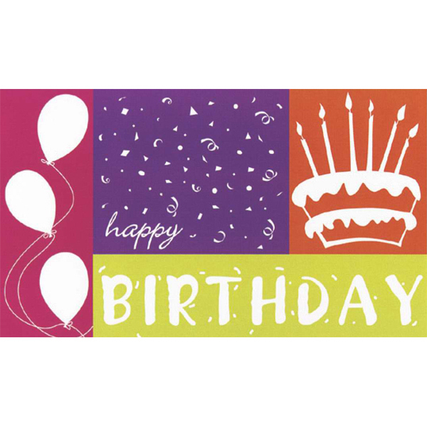 Custom Birthday Silhouette Greeting Card
