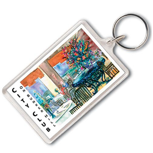 Printed Jumbo Rectangle Key Tag