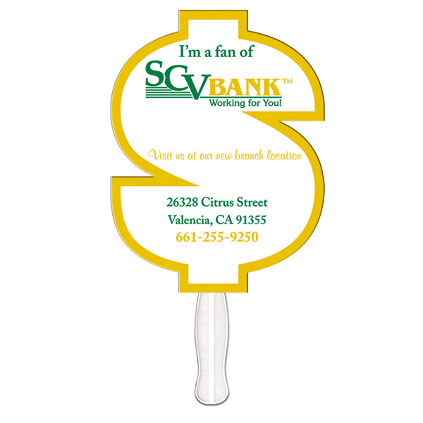 Personalized Dollar Sign offset printed fan