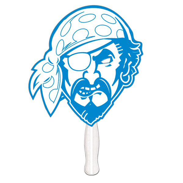 Personalized Pirate offset printed fan