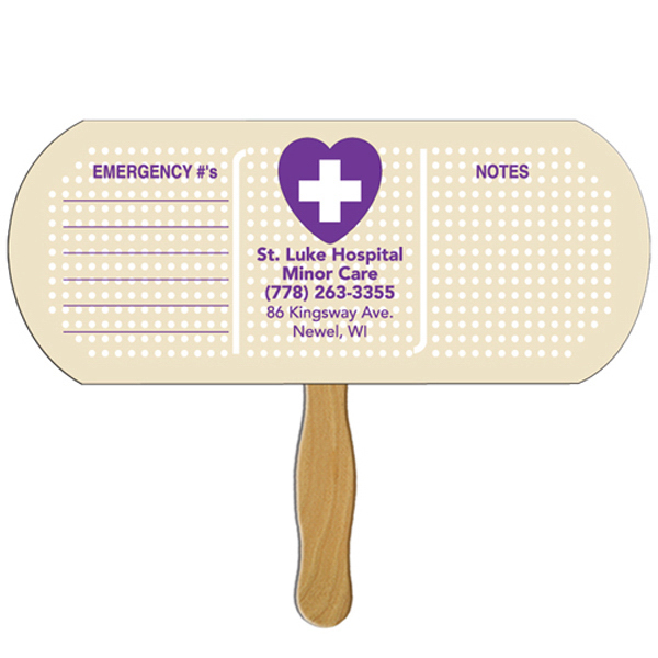 Personalized Band Aid/Pill offset printed fan