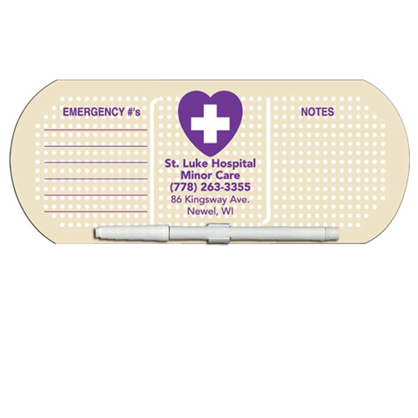 Personalized Bandage/Pill Erasable Memo Board