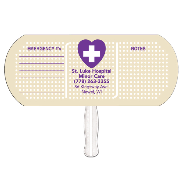 Promotional Band Aid/Pill offset printed fan