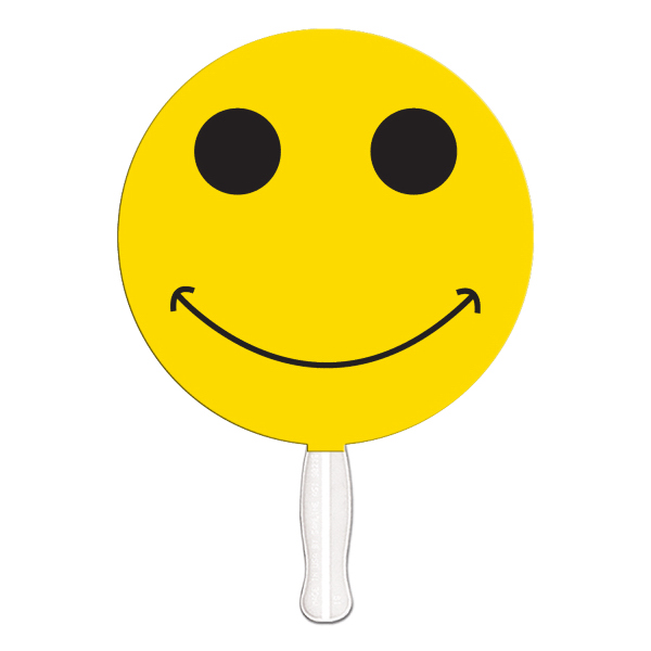 Printed Smiley face offset printed fan