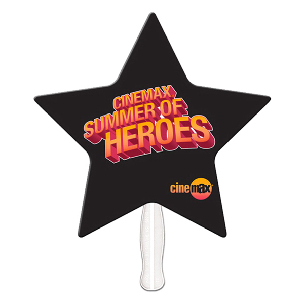 Promotional Star offset printed fan