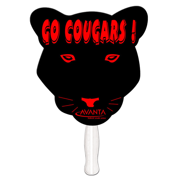 Personalized Cougar offset printed fan