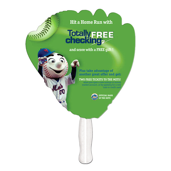 Promotional Glove offset printed fan
