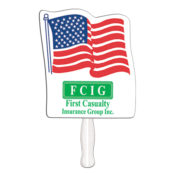 Promotional Flag offset printed fan