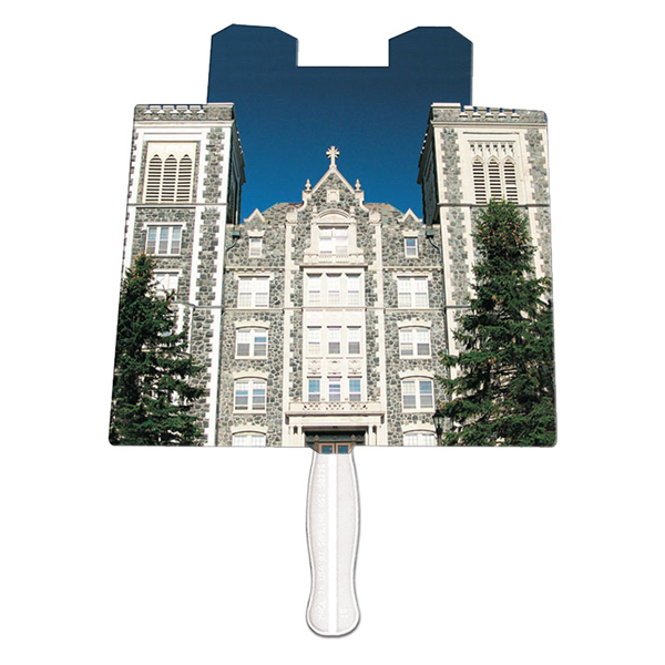 Promotional Castle offset printed fan